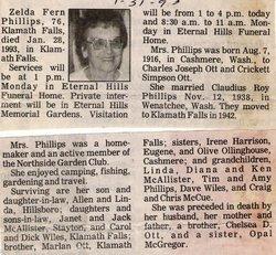 Zelda Fern <i>Ott</i> Phillips