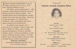 Jammia Amanda Josephine Baker Johnson