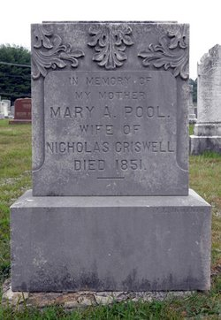 Mary A. <i>Pool</i> Criswell