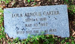 Lola <i>Arnold</i> Carter