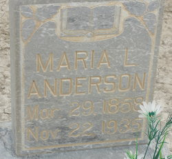 Maria <i>Larsen</i> Anderson