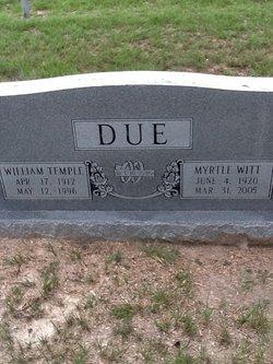 Myrtle Lee <i>Witt</i> Due