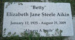 Elizabeth Jane Betty <i>Steele</i> Aikin