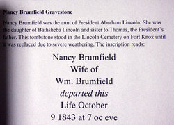 Nancy <i>Lincoln</i> Brumfield