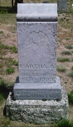 Martha Alice <i>Ridding</i> Addington