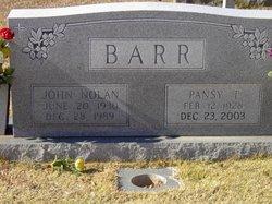 Pansy Ann <i>Thornton</i> Barr