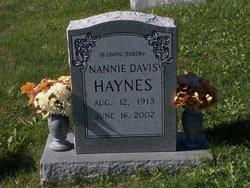 Nancy Nannie <i>Davis</i> Haynes