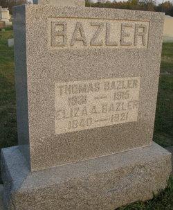 Eliza A <i>Blaine</i> Bazler
