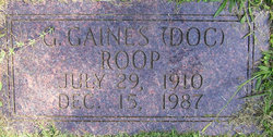 G. Gaines Doc Roop