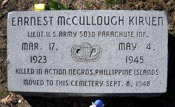 Lieut Ernest McCullough Mac Kirven