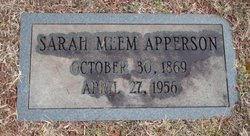 Sarah <i>Meem</i> Apperson