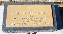 Jean D. Alexander