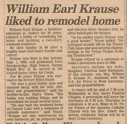 William Earl Krause, Sr