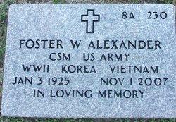 Foster W Alexander
