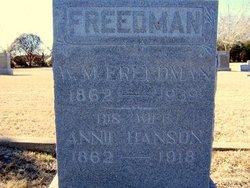 Annie <i>Hanson</i> Freedman