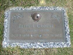 Betty Lou <i>Glenn</i> Crouse