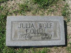 Julia <i>Wolf</i> Cohen
