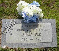 Rotha Mozelle <i>Evans</i> Alexander