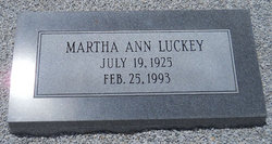 Martha Ann Luckey