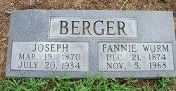 Fannie <i>Worm</i> Berger