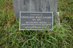 Charlene <i>West</i> Adams