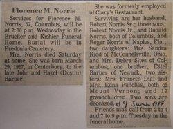 Florence M <i>Barber</i> Norris