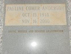 Mable Pauline <i>Comer</i> Anderson