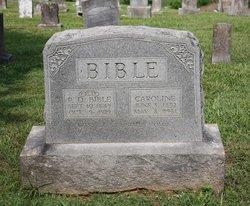 Caroline Susan <i>Rudder</i> Bible