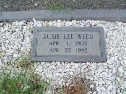 Susie Lee <i>Curlee</i> Weed