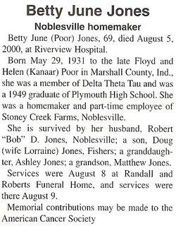 Betty June <i>Poor</i> Jones