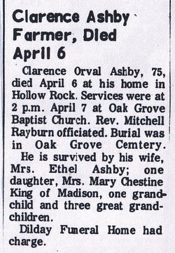 Clarence Orval Ashby