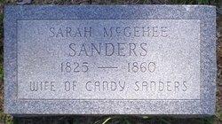 Sarah Ann <i>McGehee</i> Sanders