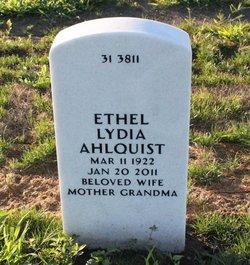 Ethel Lydia <i>Carlson</i> Ahlquist