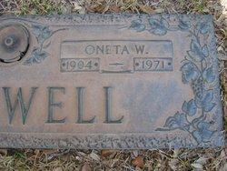 Oneta P <i>Wall</i> Birdwell