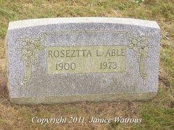 Roseztta Levina <i>Mosier</i> Able