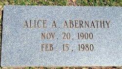 Alice <i>Aycock</i> Abernathy