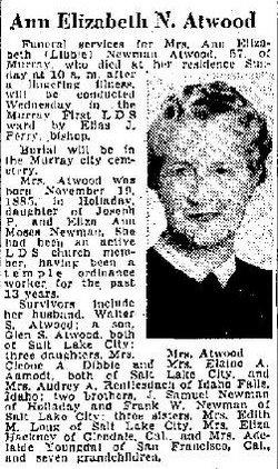 Ann Elizabeth Libbie <i>Newman</i> Atwood