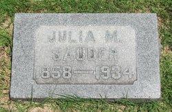 Julia <i>Leuthold</i> Sauder
