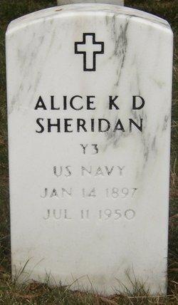 Alice K <i>Dent</i> Sheridan