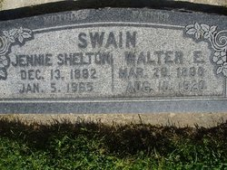 Susanna Jane Jennie <i>Shelton</i> Swain