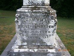 Martha <i>Turner</i> Shrader