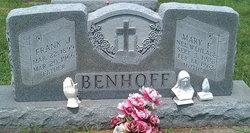 Mary F <i>Wehlage</i> Benhoff