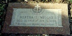 Hertha Ella Anna Bobbie <i>Schreiber</i> Wright
