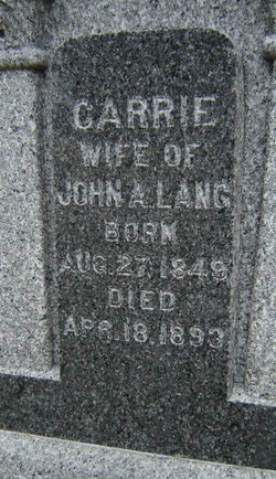 Carrie Lang