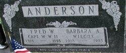 Barbara Ann <i>Wilcox</i> Anderson