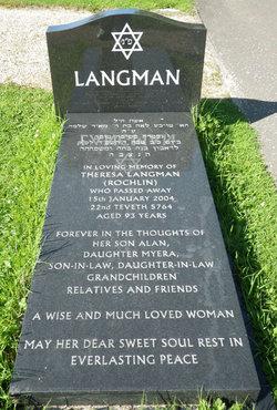 Theresa Leah <i>Oppenheim</i> Langman (Rochlin)