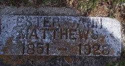 Ester Ann <i>Morefield</i> Matthews