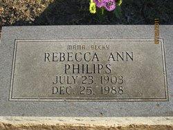 Rebecca Ann Mama Becky <i>McDonald</i> Philips