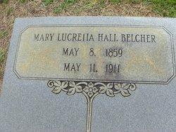 Mary Lucretia Mollie <i>Hall</i> Belcher