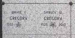 Shirley <i>Wesner</i> Gregory